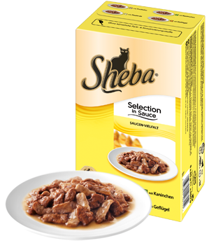 Sheba Prøvepakke Selction in Sauce 8x85 g test
