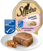 Sheba Tender Pieces in Jelly Strips of Meat with Salmon 85g 85 g