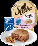 Sheba Genuss en Gelatina Tiras con Salmón 85 g