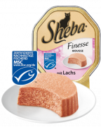 Sheba Finesse Mousse con Salmón 85 g