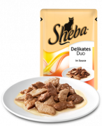 Sheba Portion Sachets Delicate Duo Chicken & Beef in Sauce 85g - EAN: 4770608251789