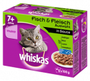Whiskas Fresh pouch Multipack 7+ meat & fish selection 12x100 g