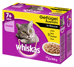 Whiskas Multipack 7+ Poultry Selection in Sauce 24x100 g, 12x100 g