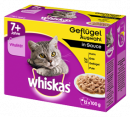 Multipack 7+ Poultry Selection in Sauce 12x100 g fra Whiskas