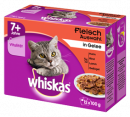Pouches Multipack 7+ Meat Selection in Jelly 12x100 g fra Whiskas