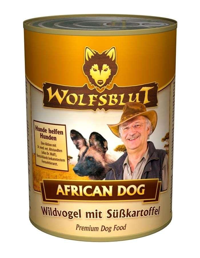Wolfsblut African Dog dåsemad 395 g, 24x200 g køb rimeligt og favoribelt med rabat