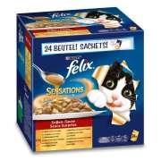 Felix Comida húmeda gatos  : Sensations Deliciosas Variedades en Salsa Multipack 24x100g compra barato