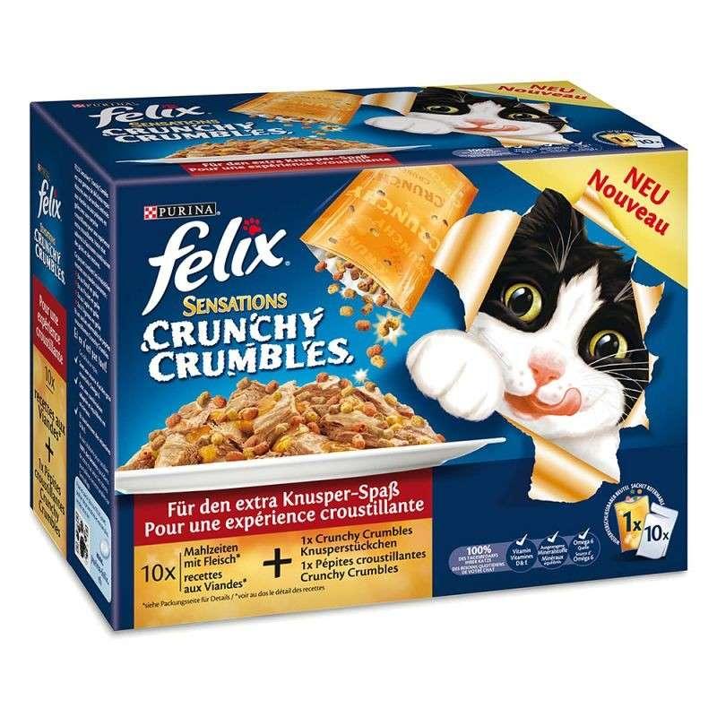 Felix Sensations Crunchy Crumbles Kattenvoer Multipack