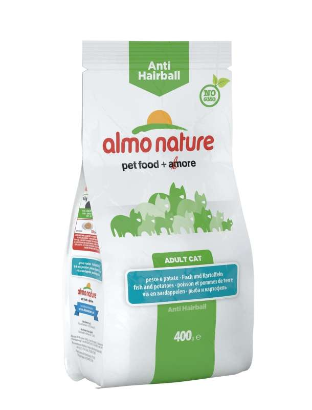 Almo Nature Holistic Anti Hairball Vis en Aardappelen 400 g