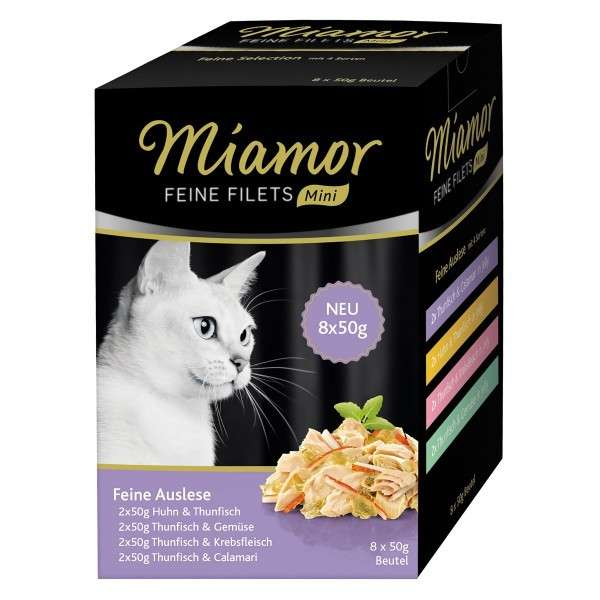 Miamor Fijne Filets  mini pouch multibox 8x50 g