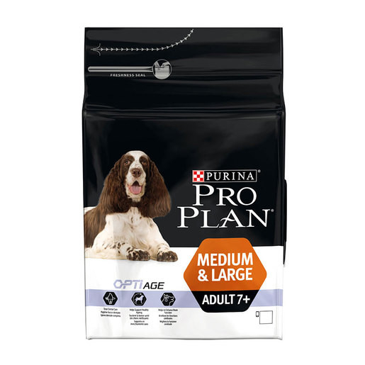 Pienso Medium & Large Adult 7+ - Optiage con pollo 14Kg, 3Kg por Purina Pro Plan сompra justa y convenientemente con un descuento