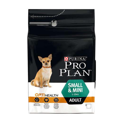 Purina Pro Plan Small & Mini Adult - Optihealth med kylling 3 kg køb rimeligt og favoribelt med rabat
