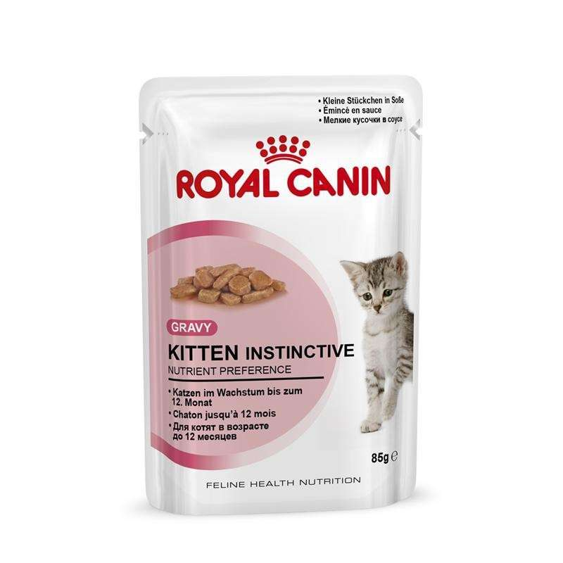 Royal Canin Feline Health Nutrition Kitten Instinctive kastikkeessa 85 g