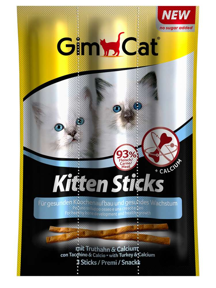 GimCat Kitten Sticks mit Truthahn & Calcium 9 g Kausticks