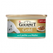 Purina Gourmet Gold - Tender Morcels in Gravy with Salmon & Chicken 85 g
