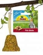 JR Farm Birds Cloche à picorer pour perruches et canaris 150 g
