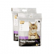Litière pour chats, parfum de poudre pour bébé 15 kg