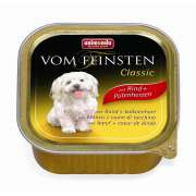 Animonda Vom Feinsten Classic Adult Beef & Turkey hearts 150 g - Hundmat på burk