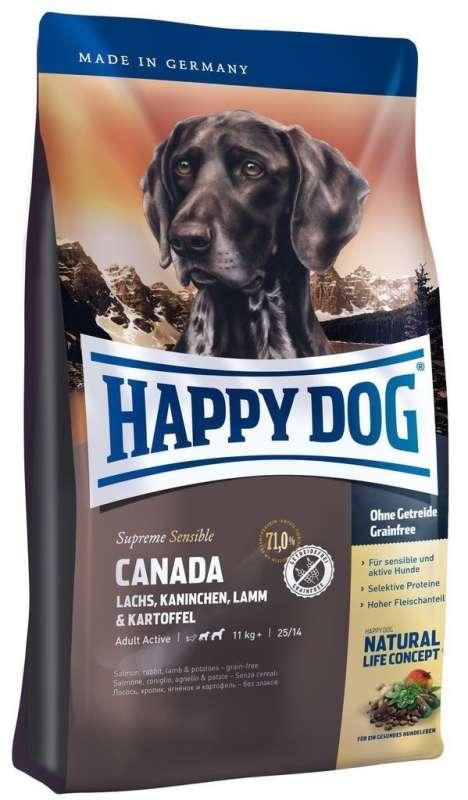 Happy Dog Supreme Sensible Canada mit Lachs, Kaninchen, Lamm & Kartoffel 4 kg