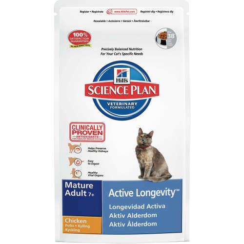 Hill's Science Plan Mature Adult 7+ Active Longevity au Poulet 1.5 kg, 10 kg, 2 kg, 300 g, 5 kg