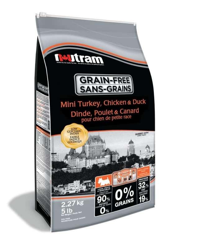 Nutram Grain Free Mini Turkey, Chicken & Duck 2.27 kg