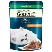 Comida húmeda Purina Gourmet Perle Finas Láminas con Conejo 85g