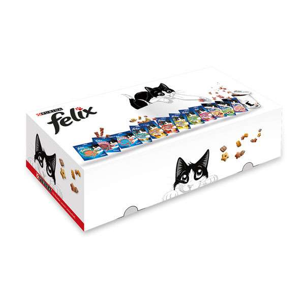 Felix Snacks Promotion Box (12 Snacks + Blik) 645 g