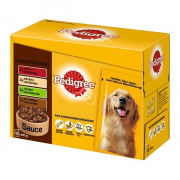 Multipack Maaltijdzakjes Adult Selection 12x100 g van Pedigree