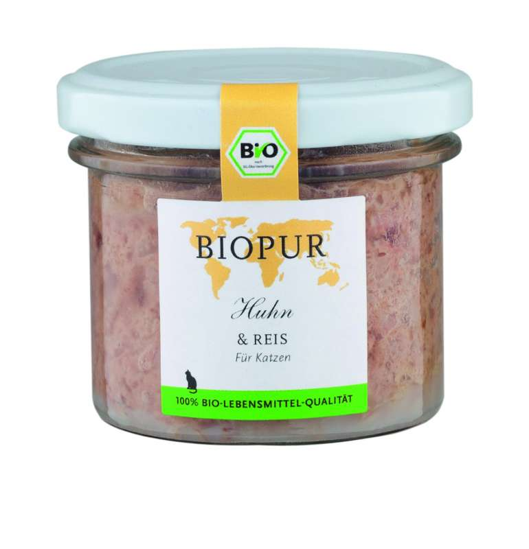 BIOPUR BIO Poulet & Riz 200 g, 100 g, 400 g essay