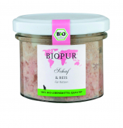 BIOPUR Sheep & Rice Organic for Cats 100 g