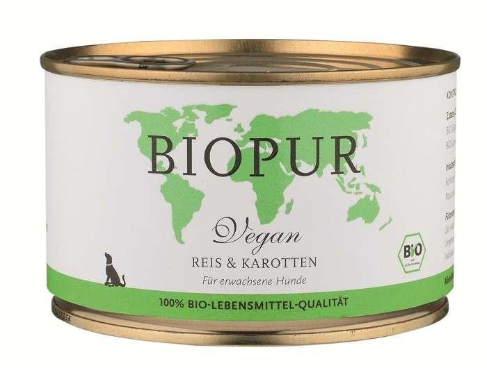 BIOPUR BIO Vegan, Rice & Carrots 400 g, 100 g