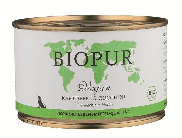 Økologisk fôr BIO Vegan Potato & Zucchini 400 g  fra BIOPUR kjøp billig med rabatt