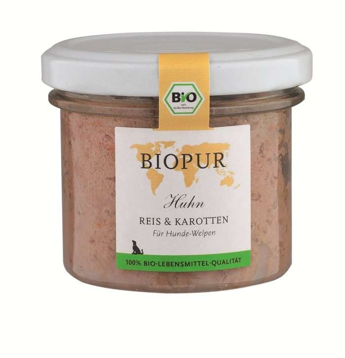 BIOPUR BIO Poulet, Riz & Carottes 100 g