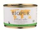Alimentation bio sans céréales pour chien BIOPUR BIO Viande pure, Poulet 400g
