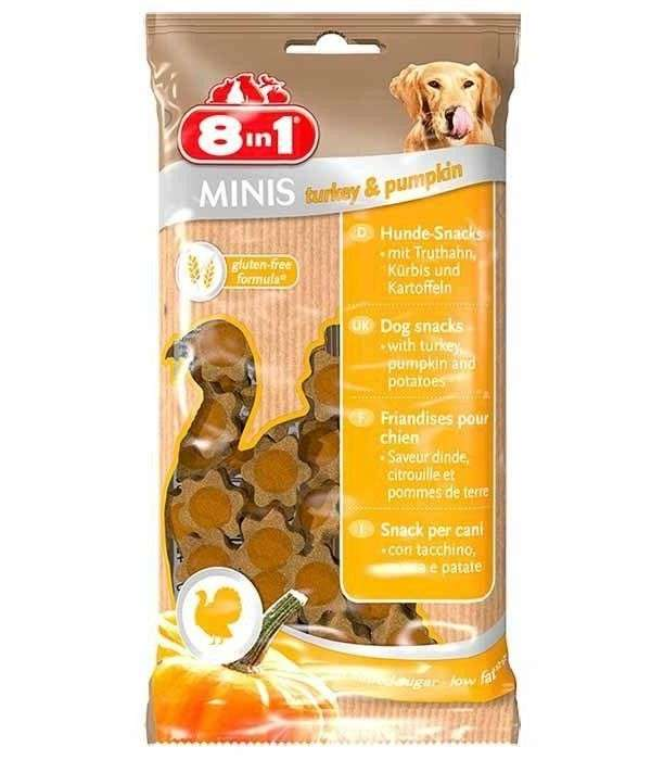 8in1 Minis Turkey & Pumpkin 100 g 4048422122722 ervaringen