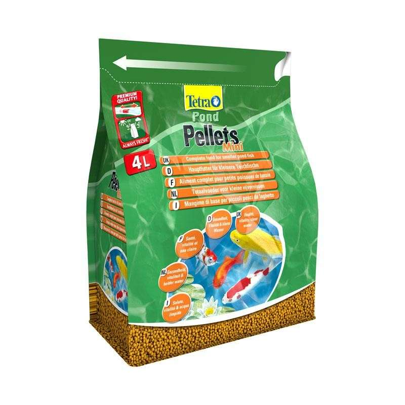 Tetra pond pellets mini 4 l mangime per pesci da laghetto for Pesci da stagno