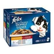 """""""As good as it looks""""  Doubly delicious with Meat mix Purkkiruoka kissoille  merkiltä Felix. Säästä nyt jopa 80%!"""