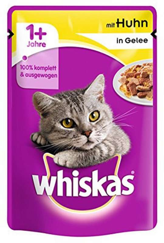 whiskas 1 avec poulet en gel e 100 g nourriture humide pour chats. Black Bedroom Furniture Sets. Home Design Ideas