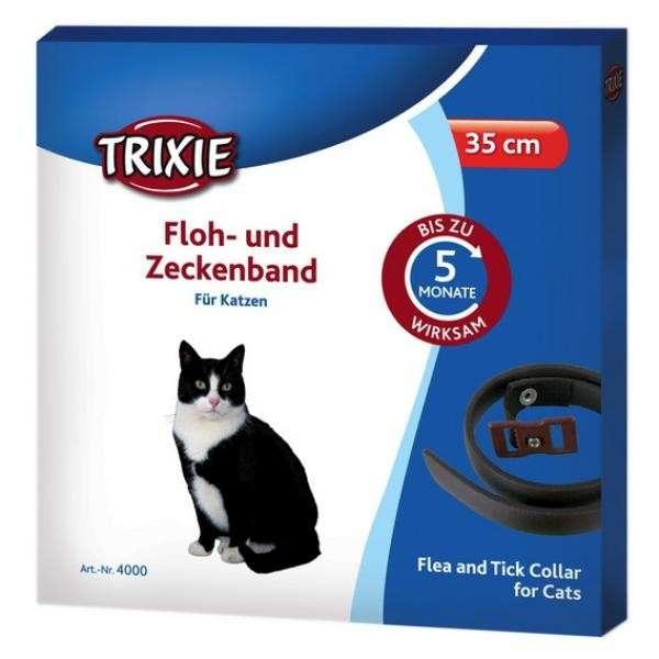 Loppe- og skovflåthalsbånd, Katte 35 cm  af Trixie køb rimeligt og favoribelt med rabat