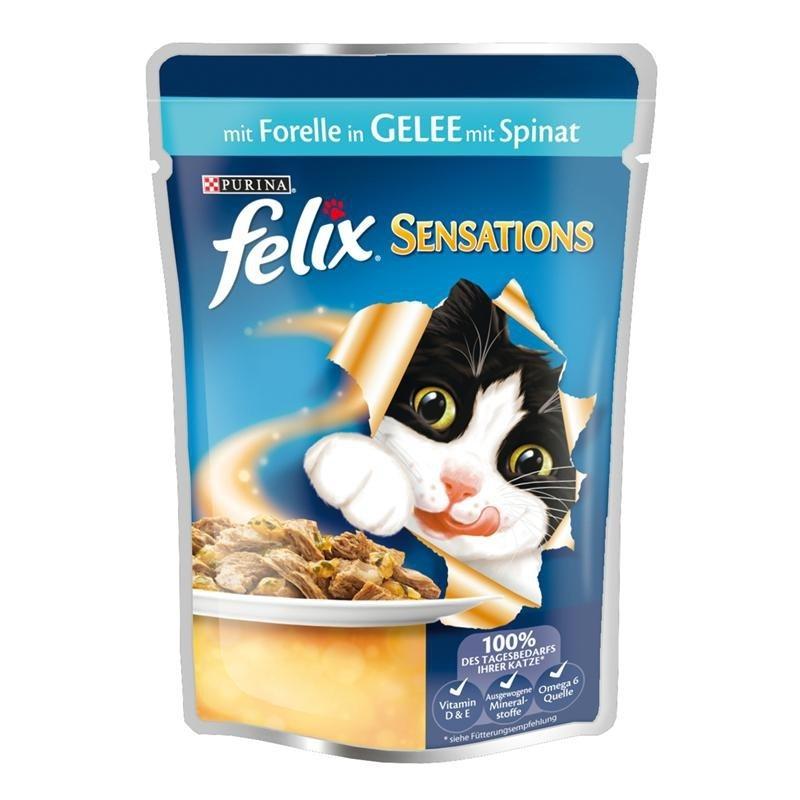 Felix Sensations Forel i Gelé med Spinat 100 g 7613032628864 anmeldelser