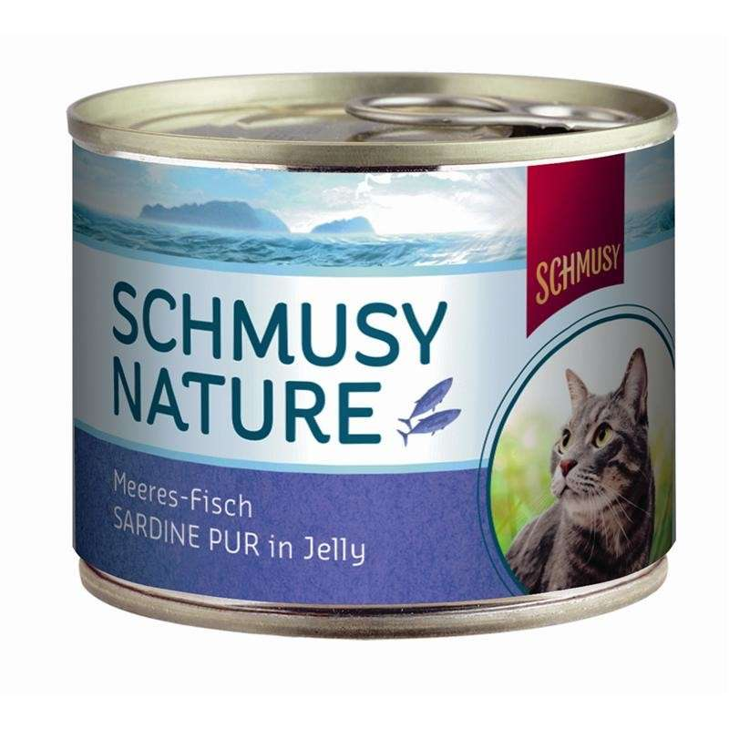 Schmusy Nature Peces-Marinos Pura Sardina in Jelly 185 g prueba