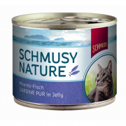 Schmusy Natural Ocean Fish Sardine pure in Jelly 185 g