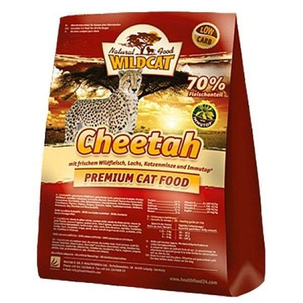 Wildcat Cheetah with Game Meat, Salmon, Catnip and Immutop 500 g, 3 kg test
