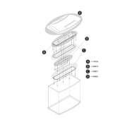 Réflecteur pour tubes fluorescents  AquaArt 130 L (2 pièces) 2x130 l