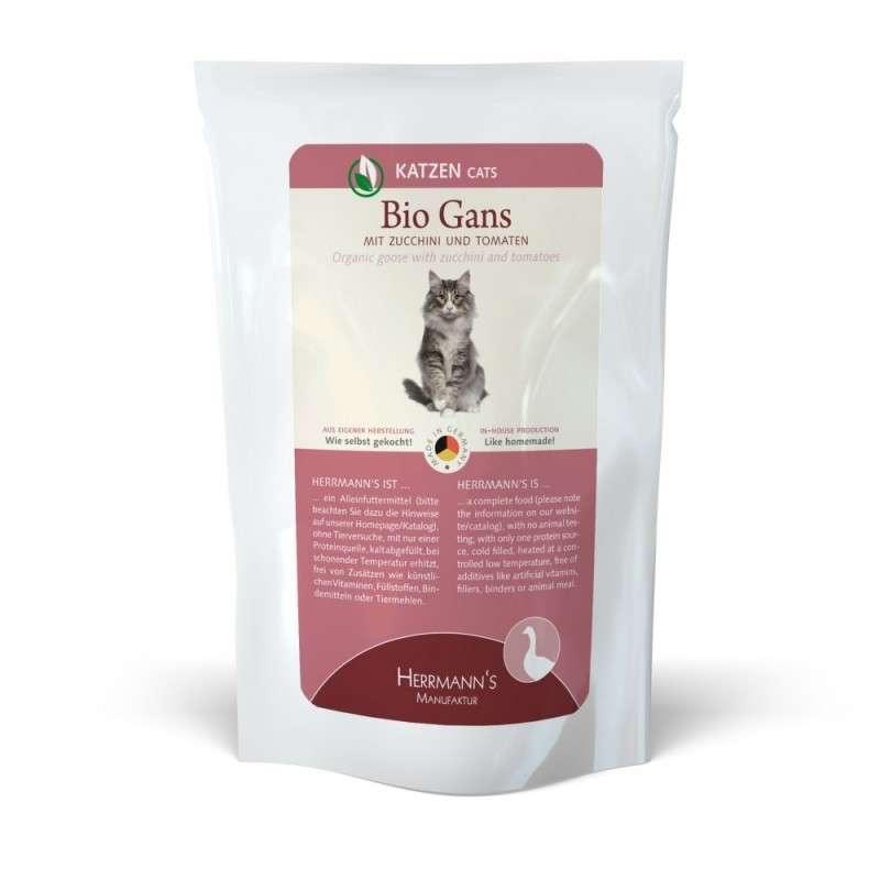 Herrmann's  Bio - Gans met Courgette en Tomaten, Zakje 100 g 4047459007477