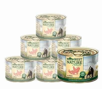 Best Nature Salmón y pollo con arroz 400 g, 200 g prueba