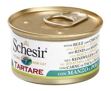 Schesir Tartare - Ternera y Pollo en salsa natural 85 g prueba