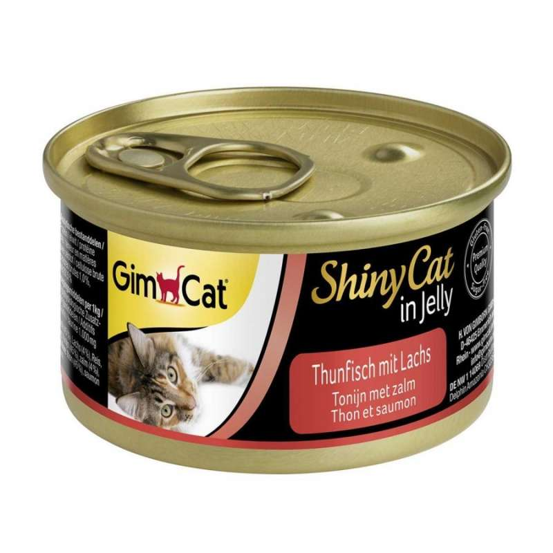 GimCat ShinyCat in Jelly Tuna with Salmon 70 g test