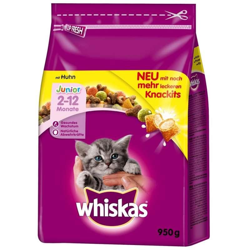 Whiskas Croquettes Junior avec Poulet 1.9 kg, 950 g