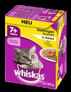 Whiskas Pouches 12 Multipack 7+ Poultry variation in gravy - Kissan märkäruoka Alennushinnat ja loistotarjoukset